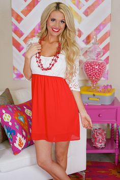 Sweet on Sugar Dress - Red from Closet Candy Boutique