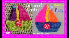 """Barquito Bote """"Tomy""""  a Crochet Aplicación por Maricita Colours"""