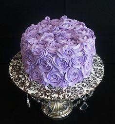 Purple Rosette Cake