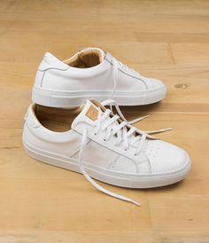 White Italian Leather Sneakers For Men - The Royale Blanco