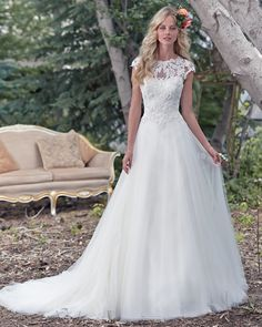 Discover the Maggie Sottero Chandler Bridal Gown. Find exceptional Maggie Sottero Bridal Gowns at The Wedding Shoppe Maggie Sottero Wedding Dresses, Dream Wedding Dresses, Bridal Dresses, Lace Wedding, Bridesmaid Dresses, Gown Wedding, Sheath Dresses, Wedding Dress Lace Top, Flowing Wedding Dresses