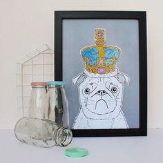 Pug In A Crown Print