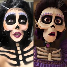 Mama Imelda from Coco! -Using water activated paints (Snazaroo) from Michaels … Mama Imelda from Coco! -Using water activated paints (Snazaroo) from Michaels and eyeshadow! perfect for a unique Halloween costume! Unique Halloween Costumes, Halloween Makeup Looks, Halloween 2019, Holidays Halloween, Halloween Make Up, Halloween Crafts, Disney Halloween Makeup, Costume Ideas, Halloween Fashion