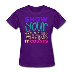 Women's Standard Weight T-Shirt Relaxed fit standard weight t-shirt for women, 100% pre-shrunk cotton (50%cotton/50%polyester for deep heath...