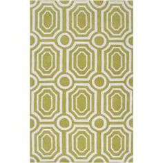 @Overstock - angelo:HOME Hand-tufted Green Hudson Park