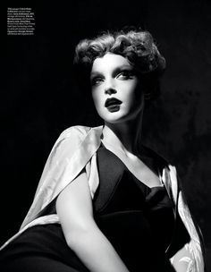 Jessica Stam by Willy Vanderperre for W Magazine January 2013