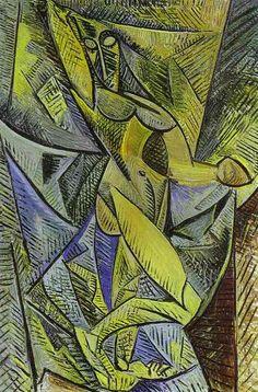 Pablo Picasso  La danza de los velos (Oleo, 152 x 101 cm. 1907)
