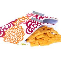 Cute reusable & machine washable snack bags with zipper closure.