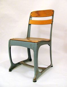 Vintage 1950s Industrial school chair