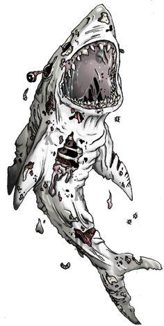 Zombie Shark Tattoo by CuteKillerDog on DeviantArt