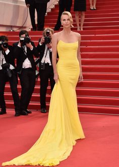 The best of the 2015 Cannes Film Festival red carpet: Charlize Theron in Christian Dior Haute Couture.
