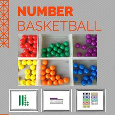 Number basketball game - Kids love to practice math with this fast paced game! They work on numbers, addition, subtraction, place value, measurement, and more!  $