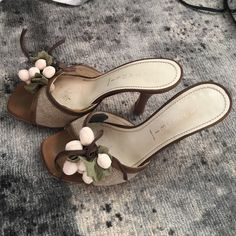 Casadei Sandals Small heel. Very comfortable, flower detail. Made in Italy Casadei Shoes Sandals