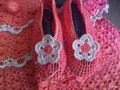 ganchillo y tricot...labores anamary: reciclando...de botas a zapatos de ganchillo