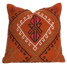 Orange Gypsy Kilim Pillow II