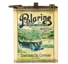 Rare Original Polarine Motor Oil Can
