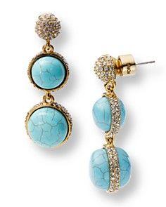 Michael Kors turquoise earrings