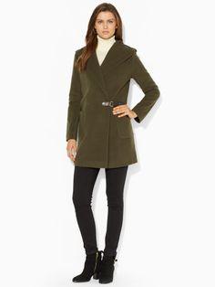 Wool-Blend Hooded Coat - Lauren Outerwear - RalphLauren.com