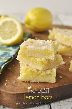 This lemon bar recipe is a keeper.  It's been in our family for 50 years!