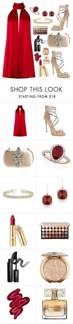 """Radiant in Red"" by claire394 ❤ liked on Polyvore featuring Galvan, Giuseppe Zanotti, Badgley Mischka, Allurez, Anne Sisteron, INIKA, Obsessive Compulsive Cosmetics and Givenchy"