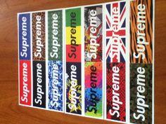 got my supreme stickers today