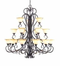 World Imports WI2620 Tuscan 21 Light Up Lighting Chandelier from the Olympus Tradition Collection