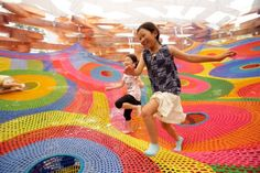 The most amazing play space ever. Crocheted Playround from Toshiko Horiuchi MacAdam