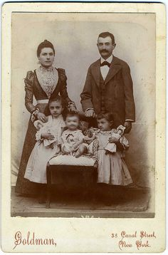 The Dealer's Choice: Cabinet Card, Anonymous Family, Jewish Immigrants From Russia by mrwaterslide, via Flickr