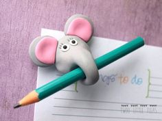 funny fridge magnet, elephant fridge magnet, elephant magnet, polymer clay magnet, fimo fridge magnet from TwoLittleFleas on Etsy. Polymer Clay Magnet, Clay Magnets, Polymer Clay Kunst, Polymer Clay Animals, Fimo Clay, Polymer Clay Projects, Polymer Clay Charms, Polymer Clay Creations, Polymer Clay Jewelry