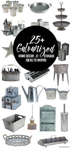 25+ Galvanized Home Decor and Storage Ideas to inspire you! livelaughrowe.com: