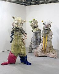 Elisabeth Higgins O'Connor's interesting, almost disturbing art made from items typically associated with comfort.
