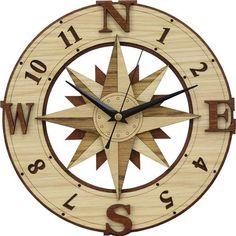 Compass Rose Clock   CNC Digital Download   Home Decor    DXF/AI File Type