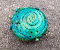 Tye Dye Hippie Girl Large Green Blue Sea Thing by SLArtisanAccents,