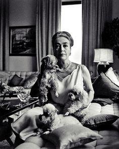 Joan Crawford at home, 1965