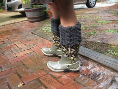Ravelry: Reversible Cabled Leg Warmers, Welly, or Rainboot Liner pattern by Autumn Frost Free Pattern