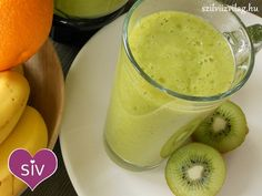 Healthy Drinks, Glass Of Milk, Smoothies, Vitamins, Health Fitness, Cooking Recipes, Pudding, Desserts, Food
