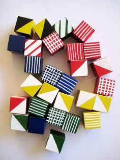 cubes. A bowl of these on the coffee table.