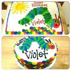 The Very Hungry Caterpillar cake and smash cake!  #hollysheavenlytreats