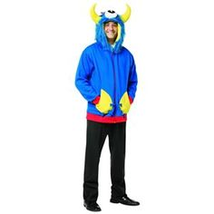 Cyclops Monster Adult Hoodie - 405767 | trendyhalloween.com Halloween Accessories, Costume Accessories, Fun Walk, Trendy Halloween, Easy Halloween Costumes, Cyclops, Blue Hoodie, Blue Hair, Onesies