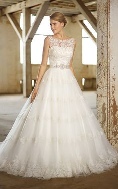 wedding dress #wedding #bride ...I could possibly see something like this...with something to line the top :)