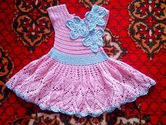 Vestidos tejidos a crochet para niñas 3