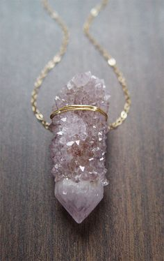 Lavender Spirit Quartz Necklace