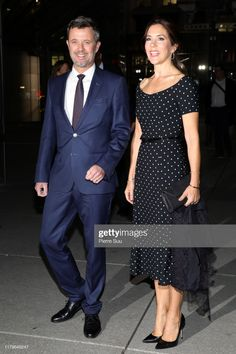 7 October 2019 - Working visit to Paris (day reception at La Défense - dress by Black Halo Crown Princess Mary, Princess Style, Royal Fashion, Fashion Looks, Denmark Fashion, Prince Frederick, Queen Margrethe Ii, Gown Suit, Danish Royalty