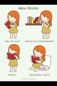 This is what I do to new books. New book smell >>>