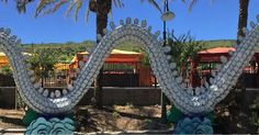 Chinese dragon made out of china - it's very long! **Click on image to see full size**