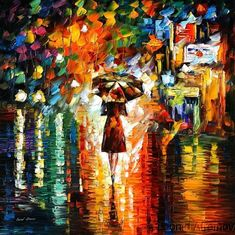 Rain Princess, by Leonid Afremov. I can't describe how much I love his use of colour.