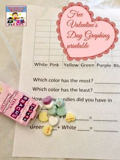 Valentine's Day graphing printable