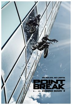 Point Break [] [] [] http://www.imdb.com/title/tt2058673/?ref_=nv_sr_2 [] official TV spot [33s] https://www.youtube.com/watch?v=BcXJ-O5sYrU [] [33s] https://www.youtube.com/watch?v=UOmvmmRUI14 [] https://www.youtube.com/watch?v=IUMT_2rVrMQ [] official trailer [03min] https://www.youtube.com/watch?v=ncvFAm4kYCo [] [] [] [] [] [] boxoffice take http://www.boxofficemojo.com/movies/?id=pointbreak2015.htm [] []