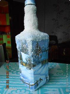 Декор предметов Декупаж Тренировка на бутылках Банки стеклянные Бутылки стеклянные Салфетки фото 6