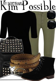 Kim Possible! Call me! Beep me! You know that you always can call Kim Possible! What's the sitch? Call me, beep me if you wanna reach me! Disney Themed Outfits, Disney Bound Outfits, Disney Dresses, Cute Disney, Disney Style, Disney Inspired Fashion, Disney Fashion, Estilo Disney, Look 2018
